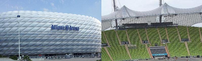 Allianz Arena und Olympiastadion
