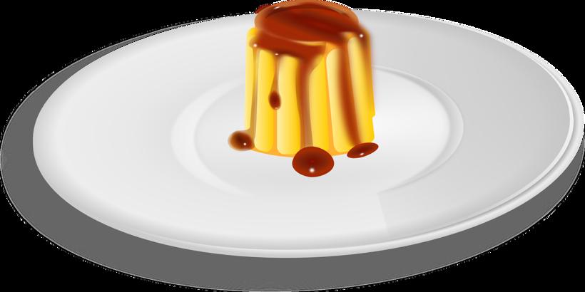 Vanille-Pudding mit Karamell übergossen