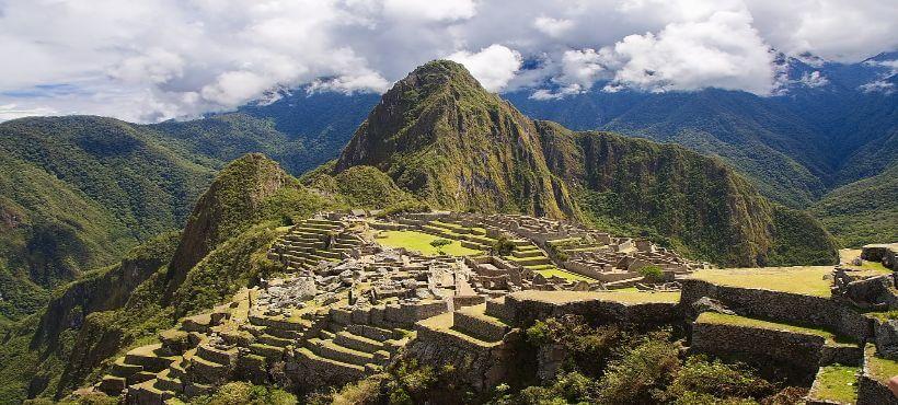Fernsicht des Machu Picchu