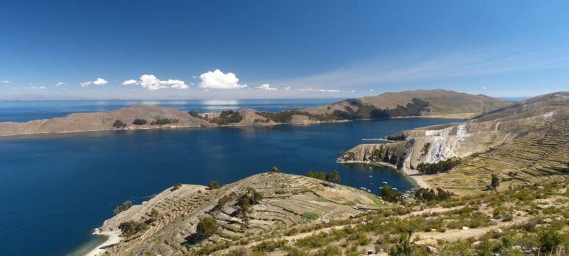 Fernsicht des Titicacasee