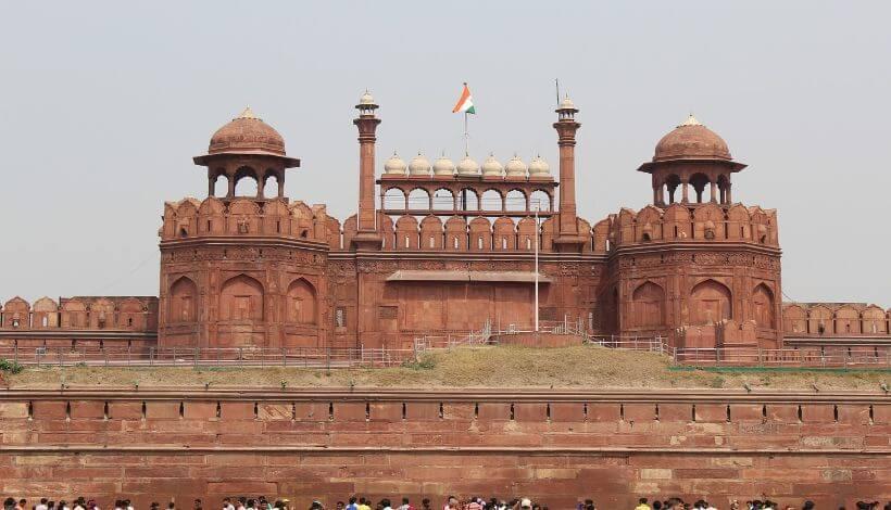 Das Bild zeigt die Rote Fort Festung